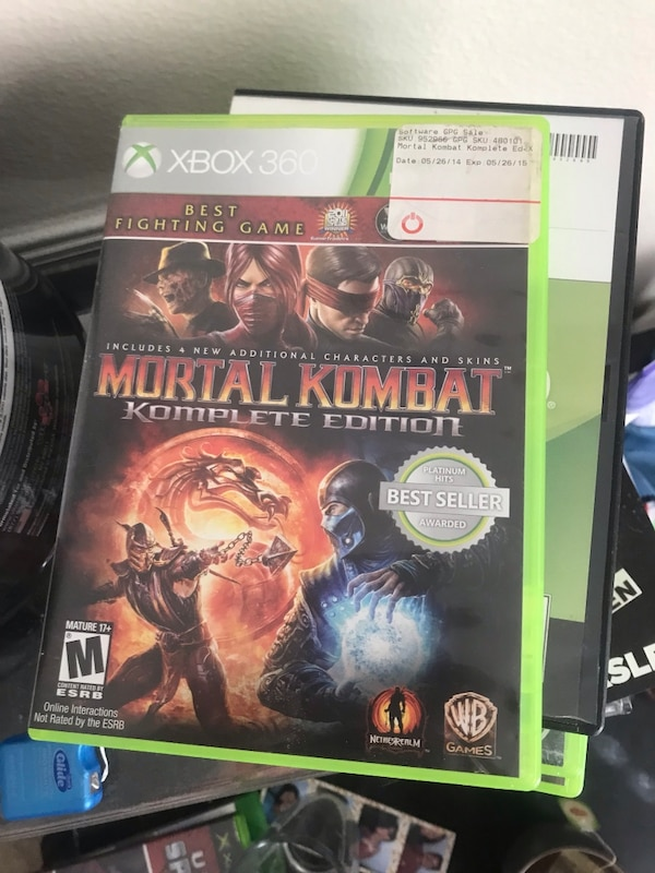 Used Mortal Kombat 9 Komplete Edition Xbox 360 Edition For Sale