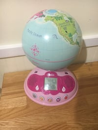 pink and white Fisher-Price learning toy