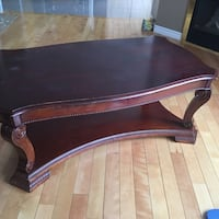 Brown wooden coffee table set Ottawa, K2W 1C8