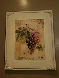 brown wooden framed painting of flowers Whiting, 46394