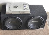black Pioneer subwoofer with enclosure Killeen, 76544