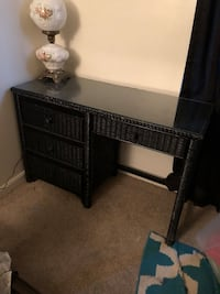 Black wicker vanity/desk!  Dumfries, 22025