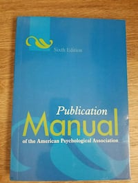 Publication Manual of the Amer. Psychological Assn Houston, 77043