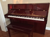 brown wooden upright piano Falls Church, 22043