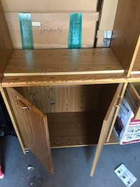 Brown wooden cabinet with shelf West Warwick, 02893