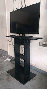 Atlantic Game Central Tv Stand with Element Tv and Roku