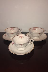 Tea cups made in Poland set of 3 Brampton, L6X 3E5