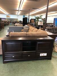 """Brand New X Large Wooden TV Stand 68"""" L with 32"""" H $399 Only, No Credit Needed Finance North Highlands, 95660"""