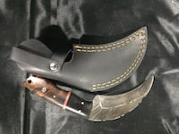 Damascus steel karambit with real leather case Oakville, L6J 1H8