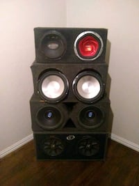 10 and 12 inch competition car speaker in boxes any combo...100 bucks! Richardson, 75080