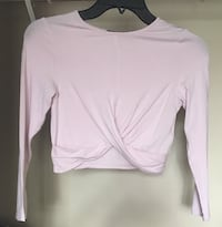 Teens cropped lilac long sleeve shirt Calgary