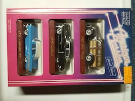 american classic car scale toy with box