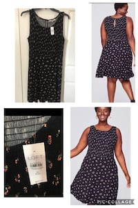 Brand new Loft size 16 Plus Floral Smocked Flare Dress (pick up only) Alexandria, 22310