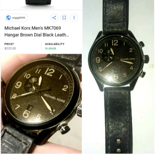 ba75770fe92e Used  Michael Kors  Black Men s Watch for sale in SeaTac - letgo