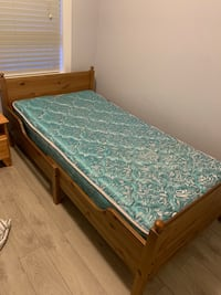 quilted white and gray mattress Maple Ridge, V4R 0C5