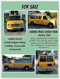 Ford E 350 super duty Work Van New Castle