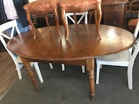 Lovely Antique Cherry Oval Dining Table 534 km