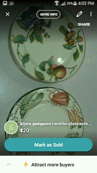 white and green floral ceramic plate screenshot Vancouver, V5X 1N3