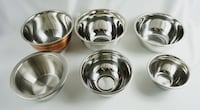 Set of 6 stainless steel mixing bowls medium and small Nashua, 03062