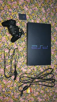 black Sony PS2 console with controller Port Coquitlam, V3B 4W5