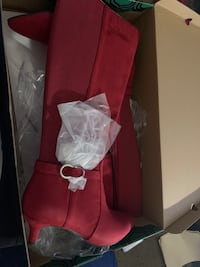 Crimson Red Heel Boots