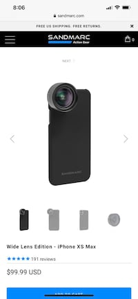 Brand new Sandmarc wide lens for IPhone XS Max