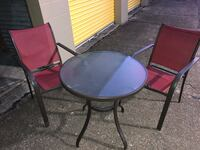 Glass patio table and chairs Jackson, 39212