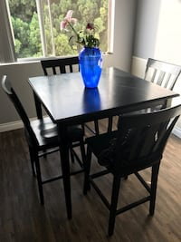 Tall top black wooden table set San Diego, 92109