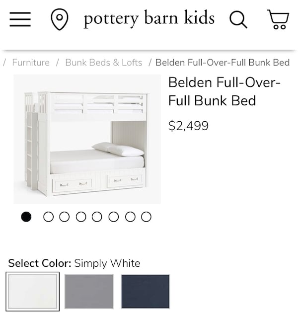 Pottery Barn bunk bed 653a67d5-b12f-42de-a1a5-35118e023970