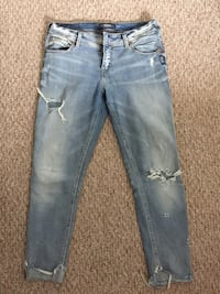 Silver Jeans - Distressed Light-Wash Jeans Wilmot, N3A 4M9