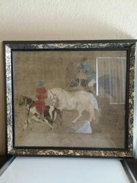 square brown-framed two cowboys paintings Cudahy, 90201