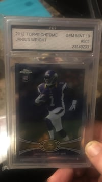 2012 Topps Jarius Wright trading card Roswell, 88201