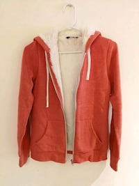 red and white zip-up hoodie Toronto, M1S 1C2