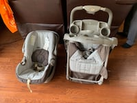 Eddie Bauer Baby's gray and white travel system Herndon, 20170