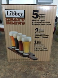 Craft brews 5-piece 6 oz. glass beer glass set