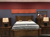 New King or Queen Bourbon Panel Bedroom Collection Charlotte, 28216