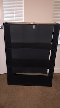 black wooden 3-layer shelf