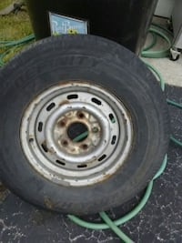 gray bullet hole car wheel with tire Lansing, 60438