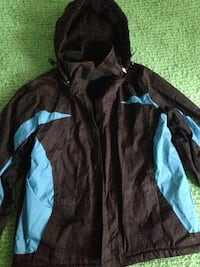 Black  and blue full zip jacket in excellent condition.spring jacket for a boy size 12-14 . Winnipeg, R2K 2C6