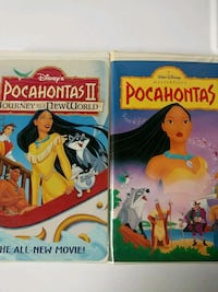 Pocahontas 1 and 2 vhs tapes