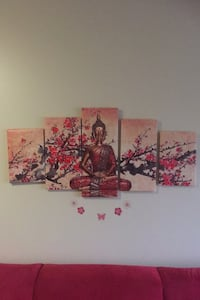 5panel Buddha canvas painting for $20 It's beautiful! It brings peace