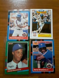 Baseball cards darryl strawberry (4 card)  West Babylon