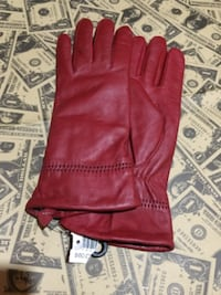 Red leather gloves  Toronto