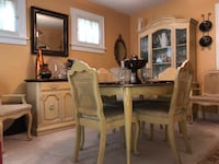 Dining Table, 6 chairs, server, and cabinet 26 mi