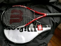 red and black Wilson tennis racket with white a Beltsville, 20705