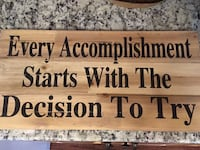 brown wooden quote wall decor Baltimore, 21230