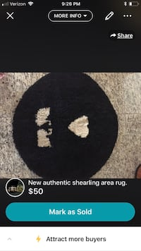 Authentic shearling rug 150 mi