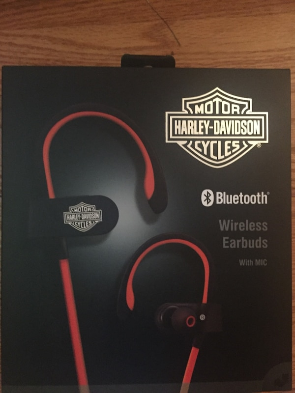 Used New Never Used Harley Davidson Bluetooth Wireless Ear Buds W