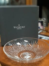 """Waterford crystal, 10"""" Weston low centerpiece.  Price negotiable"""