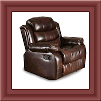 Burgundy recliner chair free delivery Falls Church, 22041